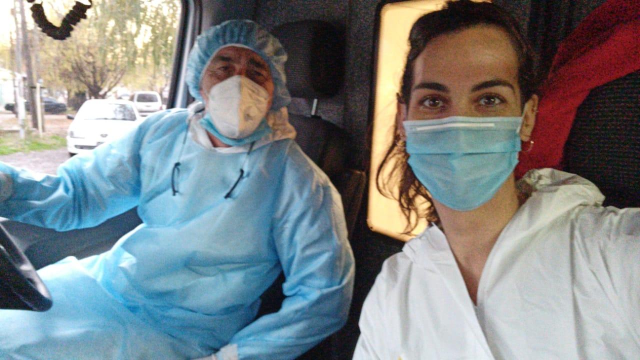 Rugbier y médica en el frente de batalla