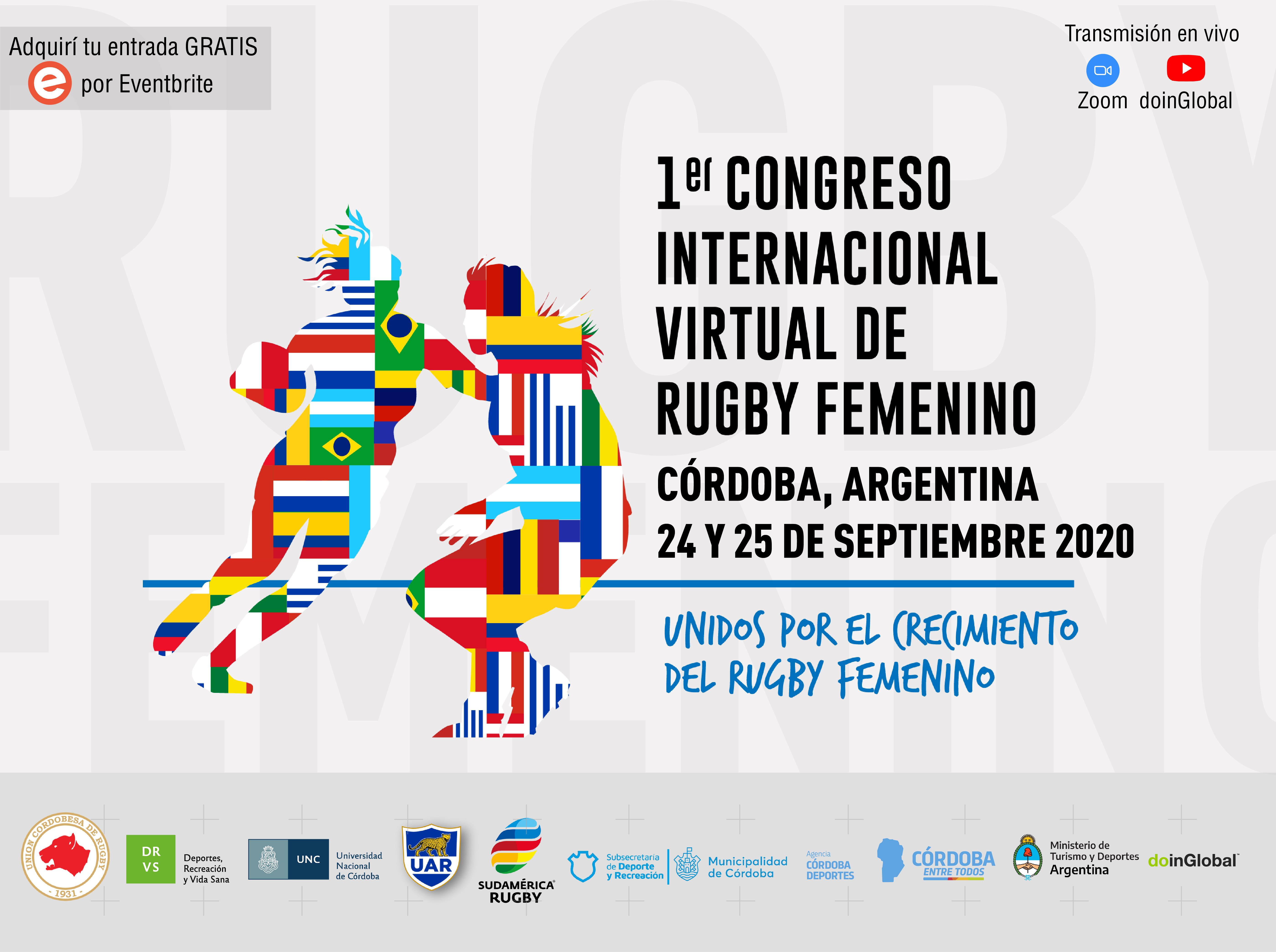 Culminó con éxito el Primer Congreso Internacional Virtual de Rugby Femenino