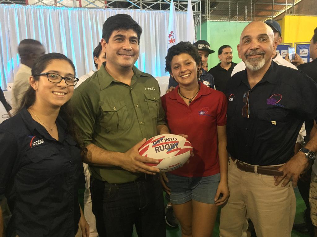 Costa Rica: Rugby presente en escuelas deportivas
