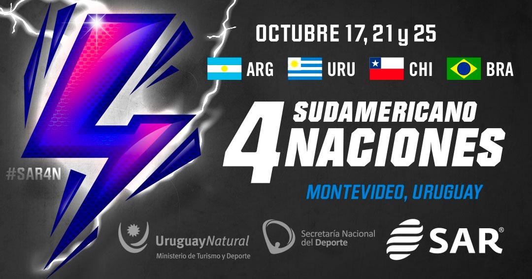Se jugará en octubre el Cuatro Naciones Sudamericano