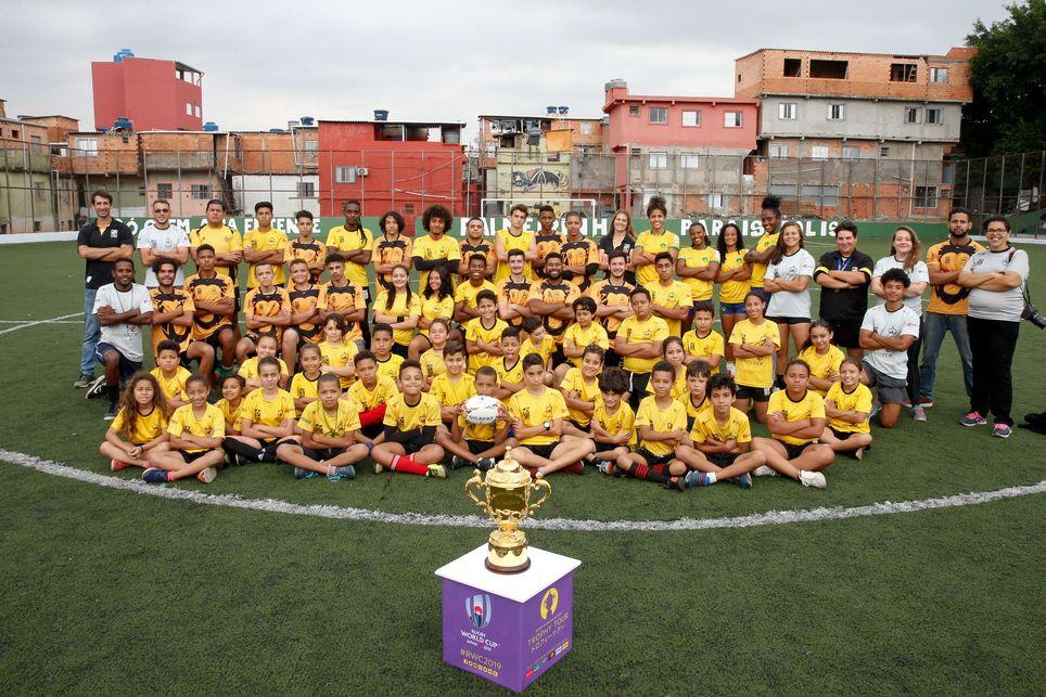 Exitosa visita a Brasil de la Webb Ellis Cup