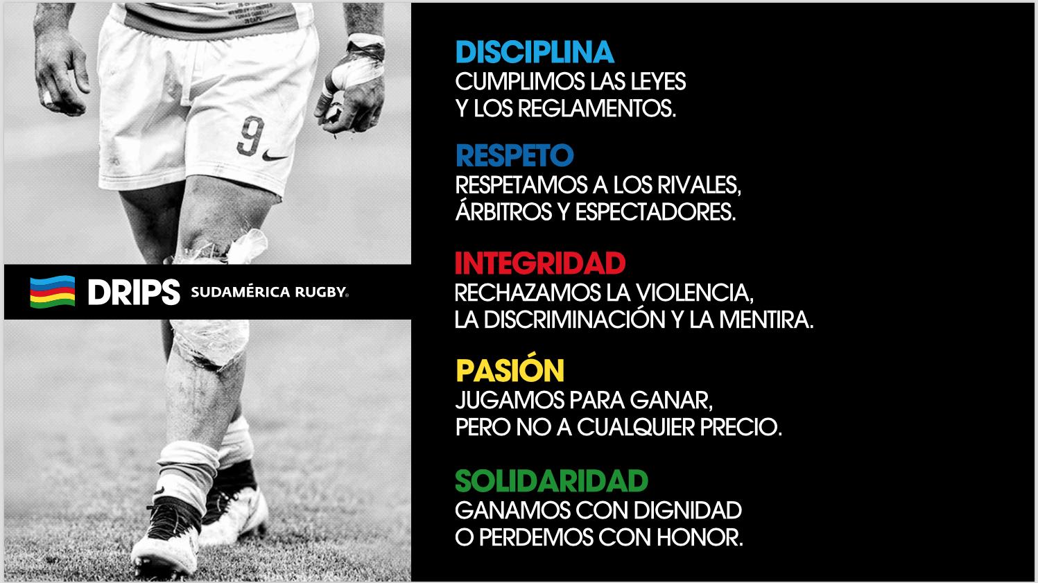 Nuestros valores, bandera del rugby