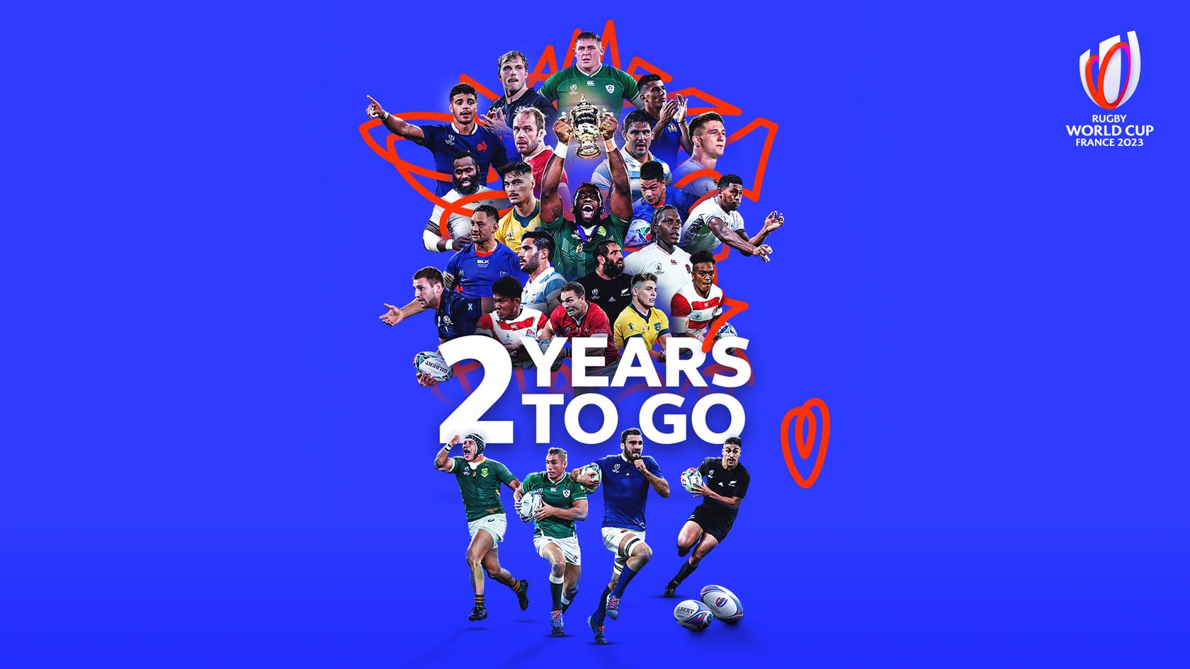 Dos años para el comienzo de Rugby World Cup France 2023